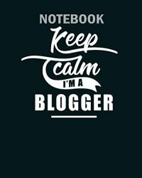 Notebook: job influencer blogging blogger blog – 50 sheets, 100 pages – 8 x 10 inches