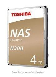 Toshiba N300 4TB NAS 3.5-Inch Internal Hard Drive- SATA 6 Gb/s 7200 RPM 128MB (HDWQ140XZSTA)