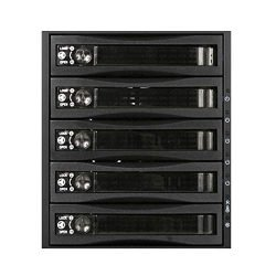 ISTAR BPU-350HD-BPL 3X 5.25 to 5X 3.5 2.5″ 12Gb/s HDD SSD Hot-swap Rack