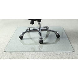 Lorell Tempered Glass Chair Mat, 36″